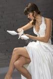 Bride in studio Stock Images