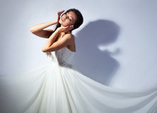 Bride studio portrait Stock Images