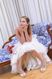 Bride studio shot. Studio shot of a bride waiting for her husband Royalty Free Stock Photography