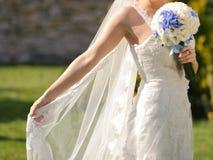 Bride in Sunlight Royalty Free Stock Photos