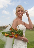 Bride in the sunshine Stock Photography