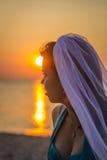 Bride in sunshine Stock Photos