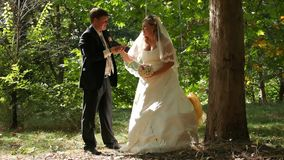 Bride Swinging stock video
