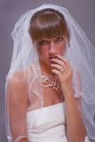 Bride in tears Stock Photography