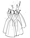Bride Throwing Bouquet Royalty Free Stock Photo