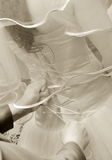 Bride tied Stock Photography