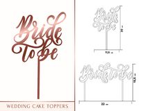 Free Bride To Be Cake Toppers For Laser Or Milling Cut. Wedding Rose Stock Image - 110684531