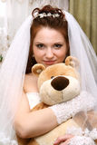 Bride with toy Stock Image