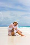Bride on a tropical beach Stock Photography