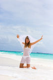 Bride on a tropical beach Royalty Free Stock Photo