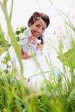 Bride under umbrella Royalty Free Stock Photos