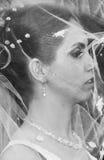 Bride under veil  Stock Photo