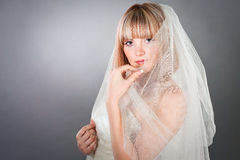 A bride under the veil Stock Photos