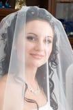 Bride under a veil Stock Image