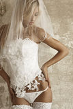 Bride in underclothing Stock Photos