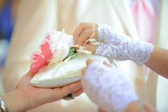 Bride Unknotting Ring Stock Photography