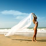 Bride vacation Royalty Free Stock Image