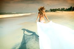 Bride vacation Royalty Free Stock Photos