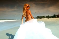 Bride vacation Royalty Free Stock Photography