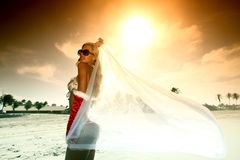 Bride vacation Stock Photography