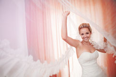 Bride with veil Stock Photography