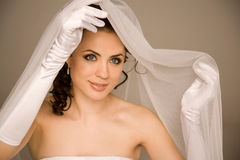Bride with the veil Royalty Free Stock Photos