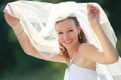 Bride with veil Stock Image