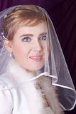 Bride with a veil Stock Photography