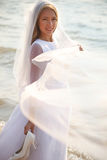 Bride with the veil Royalty Free Stock Image