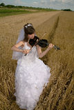 Bride & violin Royalty Free Stock Image