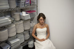 Bride Waiting Stock Photo