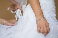 Bride Waiting at Dressing Stock Images