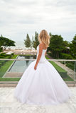 Bride waiting for groom. Royalty Free Stock Images