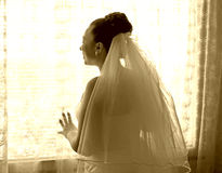 Bride waiting for the groom Royalty Free Stock Photo