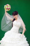 Bride by the  wal Stock Photos
