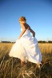 Bride Walking Royalty Free Stock Photography