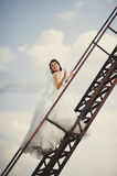 Bride walks to heaven Royalty Free Stock Photos