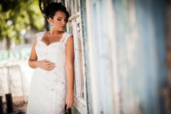Bride, wall, view Stock Images