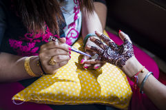 Bride wearing henna Royalty Free Stock Photo