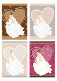 Bride and wedding background Stock Images