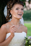 Bride with wedding bouquet. #1. Beautiful bride with wedding bouquet. #1 stock images