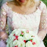 Bride with Wedding bouquet Stock Images