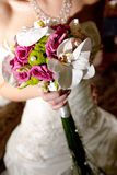 Bride with a wedding bouquet Stock Image