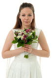 Bride with wedding bouquet Royalty Free Stock Photography