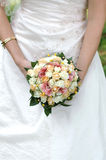 The bride with a wedding bouquet. Bride with a wedding bouquet Royalty Free Stock Photography
