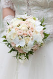 Bride with a wedding bouquet. The bride with a wedding bouquet Royalty Free Stock Photos