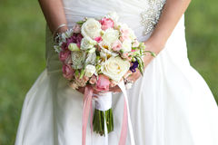 Bride with a wedding bouquet. The bride with a wedding bouquet Royalty Free Stock Images