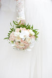 Bride with a wedding bouquet. The bride with a wedding bouquet Royalty Free Stock Image
