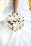 The bride with a wedding bouquet Royalty Free Stock Images