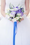 Bride with a wedding bouquet. Stock Photos